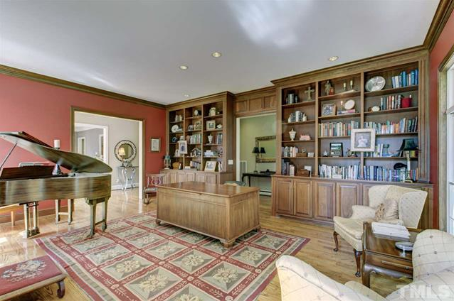 Hardwood floors and 10-ft ceilings give the home an open, elegant look